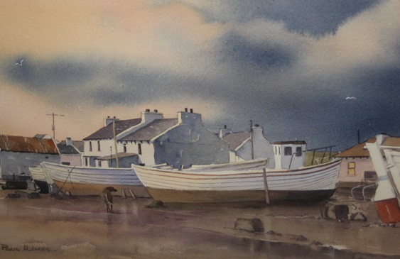 Boats on Tory Island by Paul Holmes
