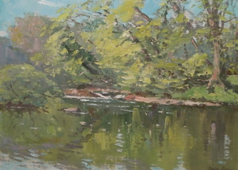 River Urr by Robert Taylor Carson