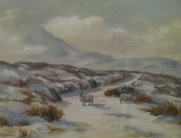 Errigal under Snow by Hamilton Sloan