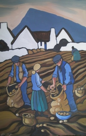 Spud Pickers under Muckish
