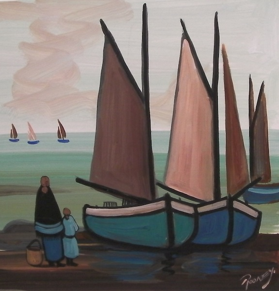 Under Sails (Triptych)